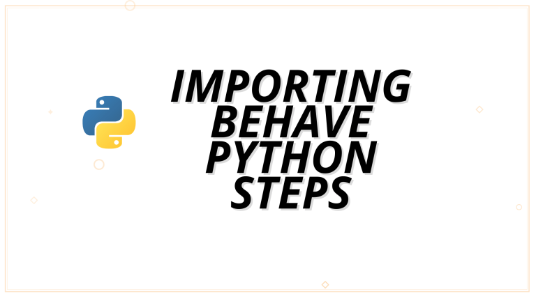 Importing behave python steps from subdirectories